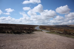 colour road across the moor