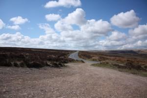 The open road across the Moor