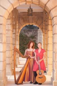 Image of Saffron & Hazel standing in archway