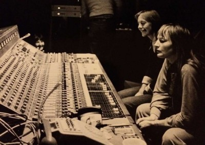 Saffron Summerfield & Barbara Thompson listening to playback at Livingstone Studios London